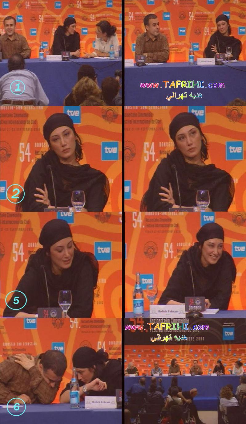 عکسهايي از هديه تهراني و بهمن قبادي درشبکه Tve Internacional